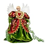 Angelic Red, Green & Gold Angel Tree...