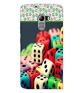 PrintDhaba Dices D-3611 Back Case Cover for LENOVO VIBE X3 c78 (Multi-Coloured)