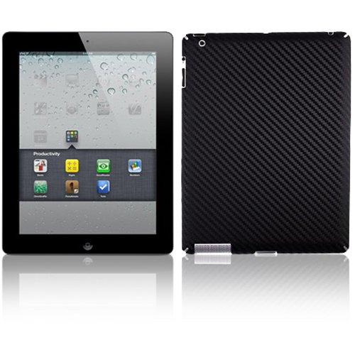 Skinomi TechSkin - Black Carbon Fiber FILM Shield & Screen Protector for Apple iPad 2 WiFi/CDMA Verizon by Skinomi