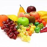 BeeYond フルーツ 食品サンプル セット ディスプレイ キッチン おままごと (果物:20種27個セット)