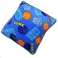 Blue Basketball Theme Fuzzy Furry Square 16