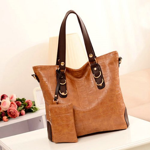 Fashion Mahjong Block Women Pu Handbag