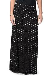 Brinley Co. Womens Polka-dot Print Elastic Waist Maxi Skirt