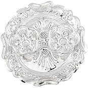 German Silver Plated Pooja Plate Pooja Thali Pooja Articles Dealer Silver Wilver Silver Plated Rani Kumkum Plate...