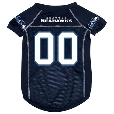 NFL Seattle Seahawks Pet Jersey with Patch, Small, Team Color at Amazon.com