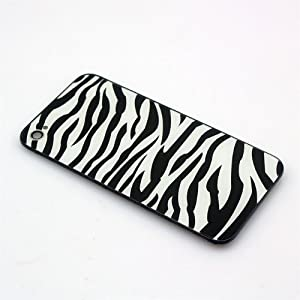 [Aftermarket Product] White zebra Replacement Battery Cover Back Housing Full Rear back glass includes Screwdrivers and Easy to follow Directions Will only For AT&T iPhone 4