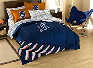 MLB Detroit Tigers Full Bed in a Bag with Applique Comforter by Northwest