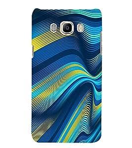 PrintVisa Wave Stripes Pattern 3D Hard Polycarbonate Designer Back Case Cover for SAMSUNG GALAXY J5 2016 Edition