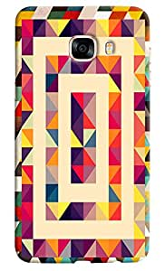 Omnam pyramid Pattern printed light design with effect for Samsung Galaxy C5