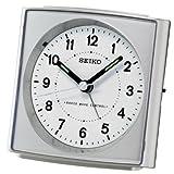 SEIKO RADIO CONTROLLED ALARM CLOCK SILVER