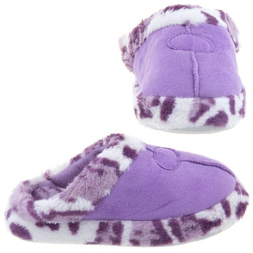 Cheap Easy Purple Leopard Slippers for Women (B009TH2YYK)
