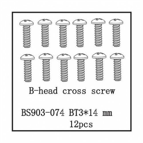 Redcat Racing 3*14mm Button Head Cross Screw (12 Piece)