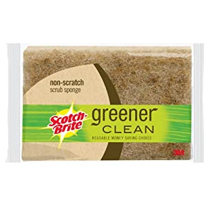 Scotch-Brite Greener Clean Non-Scratch Scrub Sponges, 2-Count