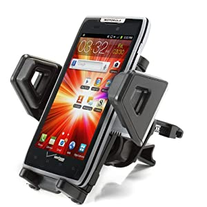 USA Gear Universal Car Air / AC Vent Mount XL with Adjustable Rotating Cradle for Samsung , HTC , Motorola , Sony , Nokia , Blackberry , LG & More Smartphones