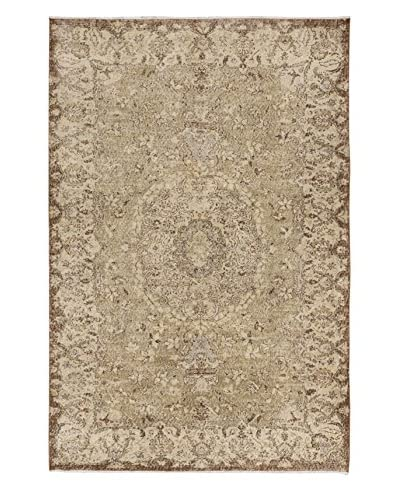 eCarpet Gallery One-of-a-Kind Hand-Knotted Anatolian Rug, Cream/Yellow, 6' 2 x 9' 4