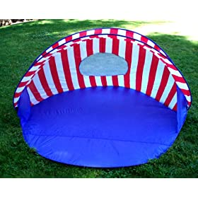 BEAUTIFUL POP UP BEACH TENT SUN SHADE 6 FT WIDE
