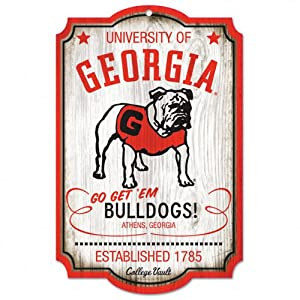 Buy NCAA College Vault Georgia Bulldogs 11-by-17 Wood Sign by WinCraft