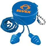 Elvex Quattro Corded Reusable Ear Plug with Container, 25 NRR