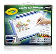 Crayola; Light-up Tracing Pad; Blue; Art Tool; Bright LEDs; Easy Tracing with 1 Pencil, 12 Colored…
