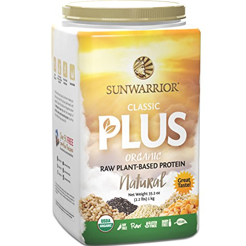 Sunwarrior - Classic Plus, Raw Organic Plant Based Protein, Natural, 40 Servings (2.2 lbs) (Sunwarrior Protein Natural compare prices)