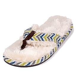 Stratus Chocolate Fur Trim With Cream Sole Size X-Large Sandal