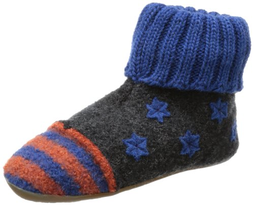 Haflinger Boys Everest My Star Slippers Gray Grau (graphit 77) Size: 10 (28 EU)