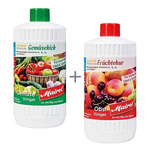 MAIROL Gemüse + Früchte-Dünger Liquid je 1000 ml 45101 + 45102