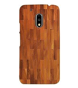 Stylish Wood Pattern 3D Hard Polycarbonate Designer Back Case Cover for Motorola Moto G4 :: Motorola Moto G (4th Gen)