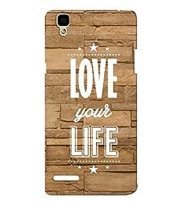 EPICCASE love your life Mobile Back Case Cover For Oppo F1 (Designer Case)