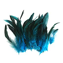 Wholesale 50 beautiful feathers 12-18cm / 4-7inch Deep Blue
