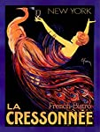 La Cressonnee French Bistro Wood Sign 9x12 (23cm x 31cm) Solid