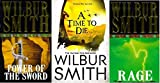 WILBUR SMITH WILBUR SMITH 3 BOOK SET COLLECTION RAGE A TIME TO DIE POWER OF THE SWORD