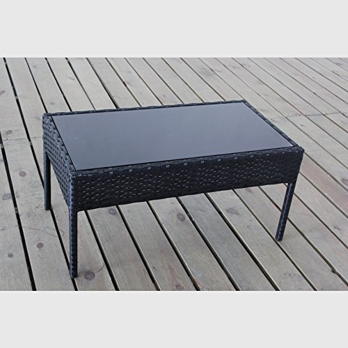Wicker Coffee Table Indoor Uk: Complete Outdoor/Indoor 4 Piece Rattan Wicker Coffee Table