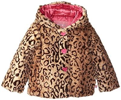 Wippette Little Girls' Animal-Print Faux Fur Coat