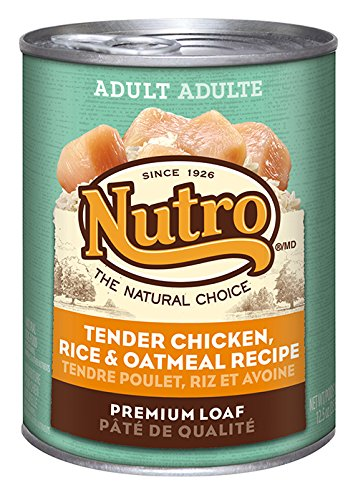 NUTRO Adult Tender Chicken, Rice and Oatmeal Premium Loaf Canned Dog Food, 12.5 oz. (Pack of 12) (Dog Canned Food compare prices)