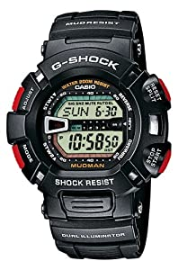 CASIO G-Shock G-9000-1VER - Reloj de caballero de cuarzo, correa de resina color negro (con cronómetro, alarma, luz)