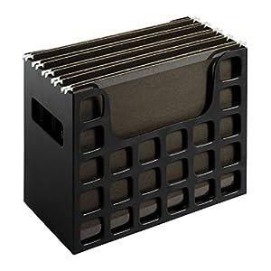 "Pendaflex Decoflex Desktop File, 9-1/2"" H x 12-3/16"" W x 6"" D, Black (23013)"