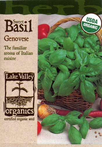 Lake Valley Seed 1670 Organic Genovese Basil Seed, 750 Mg Packet (Discontinued By Manufacturer)