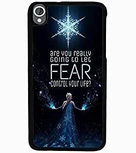 ColourCraft Image with Quote Design Back Case Cover for HTC DESIRE 820