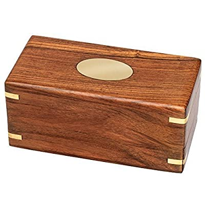 Bits and Pieces-The Secret Enigma Box - Wooden Brainteaser Puzzle Box by Bits and Pieces