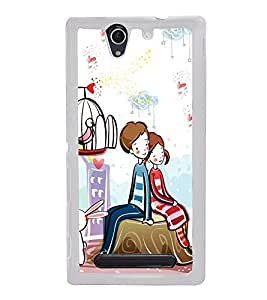 Love Couple 2D Hard Polycarbonate Designer Back Case Cover for Sony Xperia C4 Dual :: Sony Xperia C4 Dual E5333 E5343 E5363