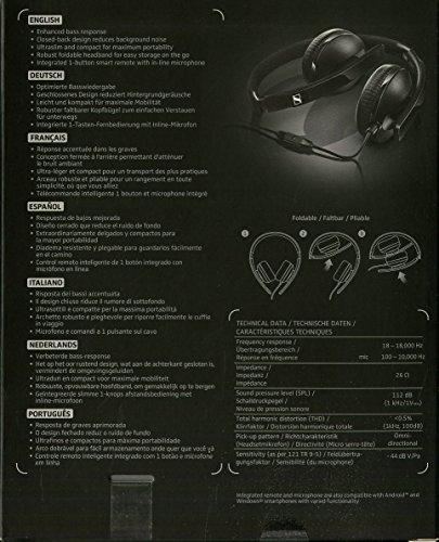 Sennheiser HD2.20S Cuffia Dinamica Chiusa Sovraurale con Comandi su Cavo, Nero