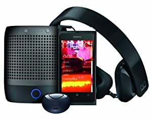 Nokia Lumia 800 Unlocked Phone With - Purity HD Headset by Monster & Nokia Play 360 Portable Wireless Speaker & Nokia Luna Bluetooth Headset  (Black)