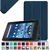 "Fintie Fire 7 2015 Slim Shell Case - Ultra Slim Lightweight Standing Cover for Amazon Fire 7 Tablet (will only fit Fire 7"" Display 5th Generation - 2015 release), Navy"