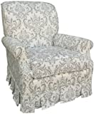 Angel Song Marquee - White & Silver Club Adutl Rocker Glider Chair - Foam Filled
