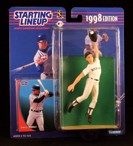 LARRY WALKER / COLORADO ROCKIES 1998 MLB Starting Lineup Action Figure & Exclusive Collector Trading Card