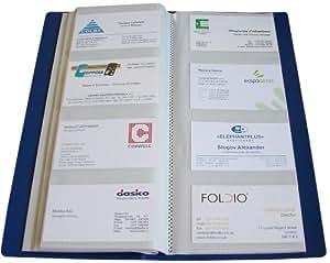 Visitenkartenbuch für 240 Karten blau