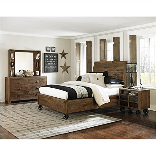 Magnussen Braxton Wood Panel Bed In Natural - Twin