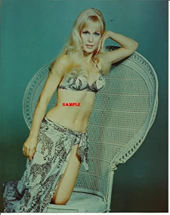 Dream of Jeannie Barbara Eden Bikini Scarf Wrap Leaning on Chair