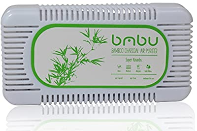 Refrigerator Deodorizer and Air Freshener Made with Carbon Activated Bamboo Charcoal - Fragrance Free, Non-toxic, Safe Near Foods and Liquids